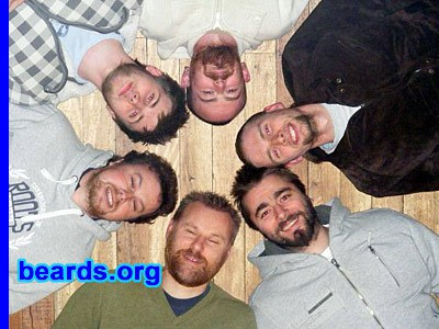 charity beard-growers from Ayr, Scotland