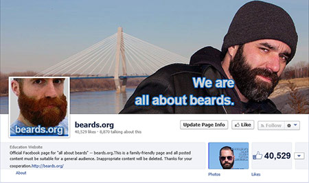 beards.org 40,000 Facebook likes