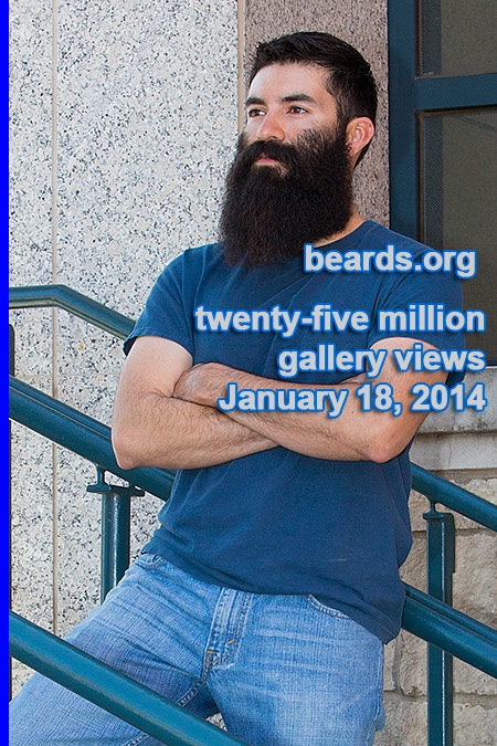 Twenty-five million beard gallery views