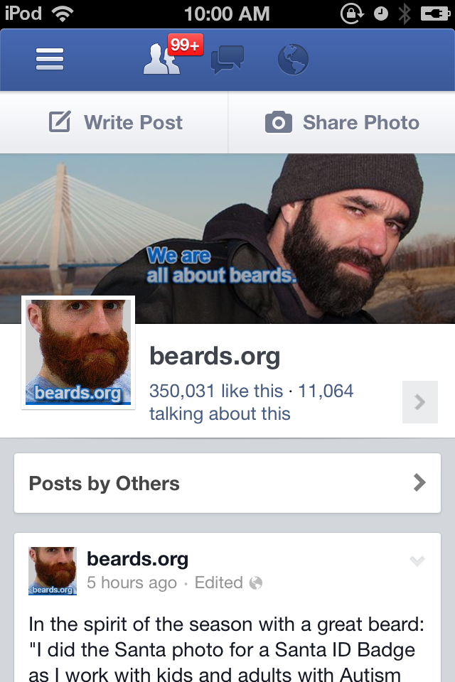 beards.org 350,000 Facebook page likes
