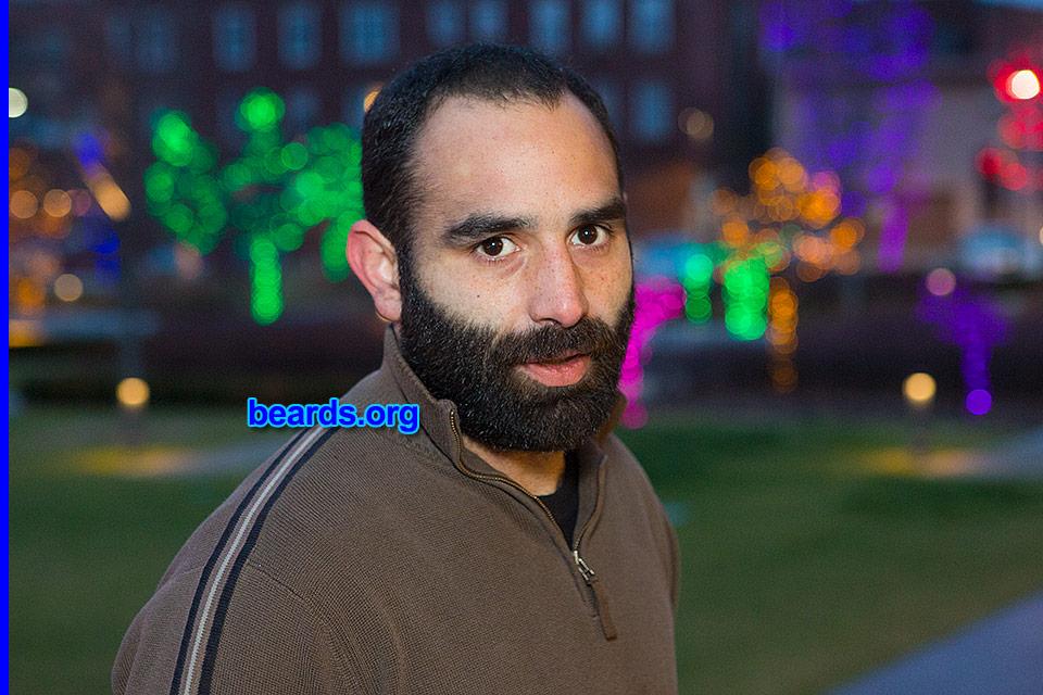 bearded at night: Chris
